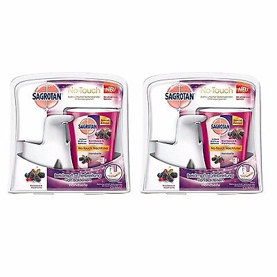 2 x New Dettol No Touch Sagrotan Hand Wash System With Blackberry Forest Fruits