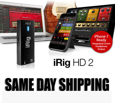 New Ik Multimedia Irig 2 HD  Next Gen Audio Interface for iOS/Android/Apple/PC