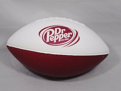 """Small Dr. Pepper Established 1885 Toy Foam Collectible Football 3"""" x 5"""" NEW"""