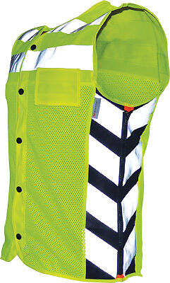 Missing Link Meshed Up High Visibility Reflective Motorcycle Riding Safety Vest
