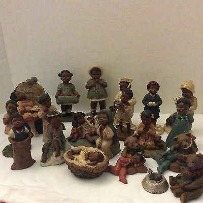 All God's Children Figurines By Martha Holcombe, 19 Pieces