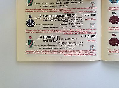 2012 Royal Ascot First Day Official Race Book - Frankel - Horse Racing