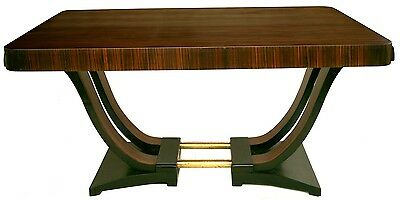 FRENCH ART DECO Dining room table  U SWAN BASE MACASSAR