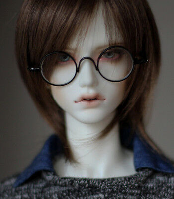 Vintage Metal Black Oval Glasses For BJD 1/3,SD17, Uncle Doll Accessories GS3-3