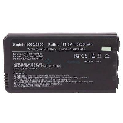 New 8 Cell Laptop Battery for Dell Latitude 110L M5701 T5443 UK