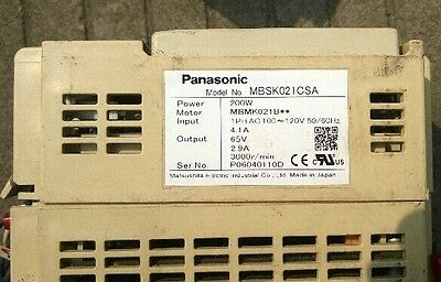 1PCS USED Panasonic Drive MBSK021CSA 100V-200W tested