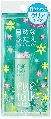 NEW KOJI DOUBLE EYELID EYE TALK GLUE Clear type Gel 7ml Free S eyetalk JAPAN