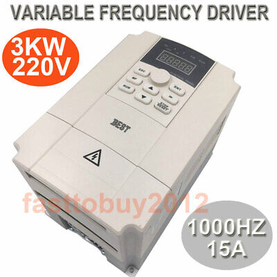 3KW VFD Inverter 220V 15A Variable Frequency Driver 4HP 1000HZ for Spindle Motor