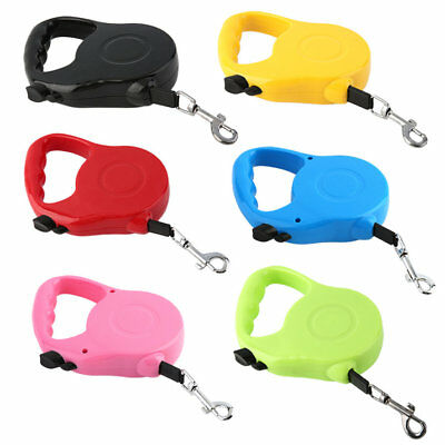 New 3M/5M Long Retractable Dog Pet Lead For Training Leash Extendable WU