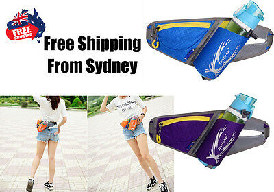 Running Belt Jogging Cycling Hiking Camp Mobile Water Bottle Waist Bag Gym Pouch