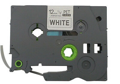 12mm Black on White Label Tape Compatible for Brother TZe TZ 231 P-touch 26.2ft
