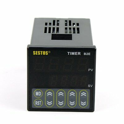 Sestos B2E-2R-24 12-24V Digital Twin Timer Relay Output Kitchen Industry