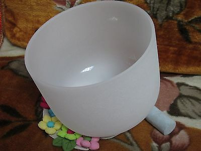 Perfect Pitch New Frosted Quartz Crystal Singing Bowl 10'' D Note