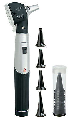 HEINE mini 3000 F.O. Otoscope with handle and reusable and disposable tips