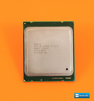 2 x INTEL XEON E5-2670 2.60GHZ 8-CORE CPU PROCESSOR - SR0KX (£200 ex-vat)