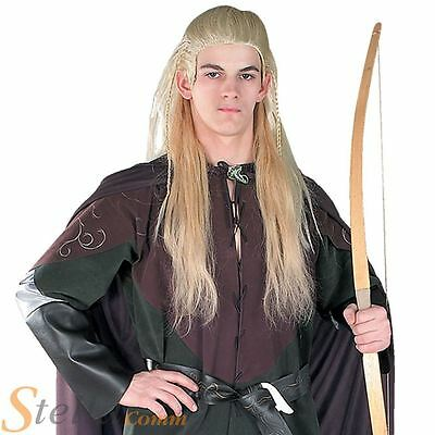 Adult Legolas Wig Fancy Dress Offical Lord Of The Rings Costume Accessory