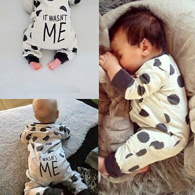 Newborn Kids Baby Boy Girls Infant Romper Jumpsuit Bodysuit Clothes Outfits