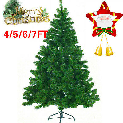 4/5/6/7FT Christmas Tree Luxury Boxed Traditional Forest Green Metal Stand Xmas