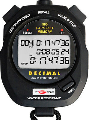 Fastime 500DM - Decimal Minute Professional Triple Display Stopwatch with 500 La