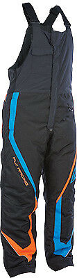 Fly Racing Outpost Black Orange Cold Weather Snowmobile Winter Snow Bib Pant