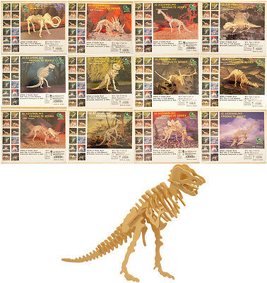 High Quality 3D wooden Dinosaur model puzzle kit