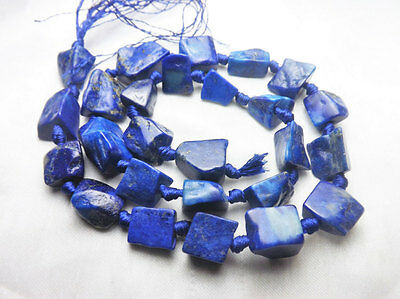Super Quality 100% Natural Lapiz Lazuli Matte Finish Nuggets Beads Strand Afghan