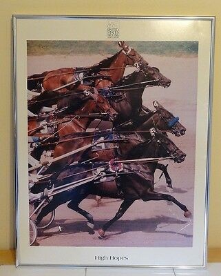 USTA Harness Racing Trotters Framed Photo Finish Wall Art Picture 17 x 22