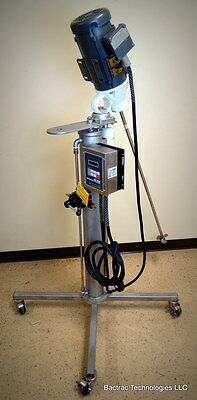 NEW Sharpe Portable Mixer w/ Stainless Steel Powered Telescopic Air Lift 1/2 HP