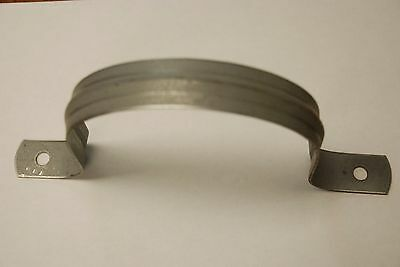 "10 GALV 4 PS Galvanized 4 Inch Pipe Strap (4 "" x 8 1/8"" x 3/4"") Dundee MFG. CO."