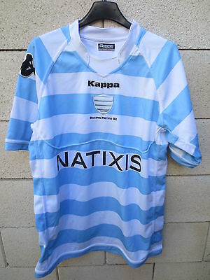 Maillot rugby RACING METRO 92 KAPPA shirt Natixis moulant XL