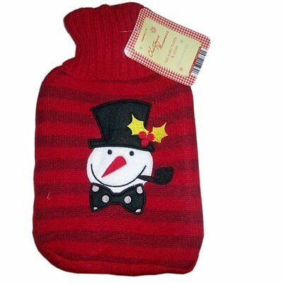 Christmas Warmers Red Snowman Hot Water Bottle & Cover Xmas Gift Idea