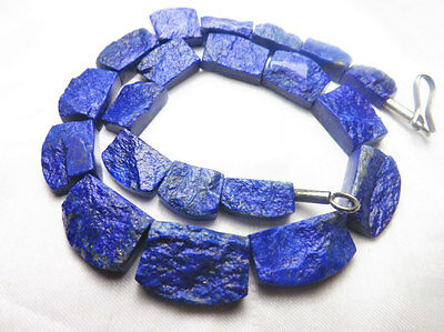 Rare 100% Natural Royal BLue Color Collar Shaped lapis Lazuli  Beads Strand
