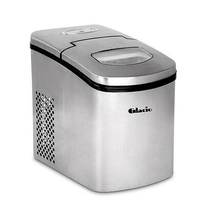Stainless Steel Ice Cube Maker 1.7L Portable Machine Fast Quiet Energy Saving