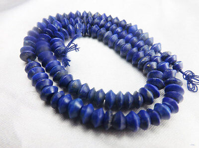 AAA Grade 5-6 MM Hand made Matte Finish Rondelle Lapis Lazuli Strand