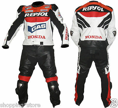 Honda Repsol Biker Leather Motorbike Leather Suit Motorcycle Jacket Trouser