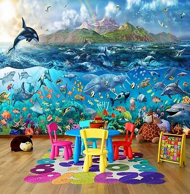 Wall Mural Photo Wallpaper Underwater Fishes Tropical Sea Ocean Life 335x236cm