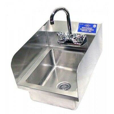"12"" x 12"" WALL MOUNT HAND SINK WITH SPLASH GUARD"