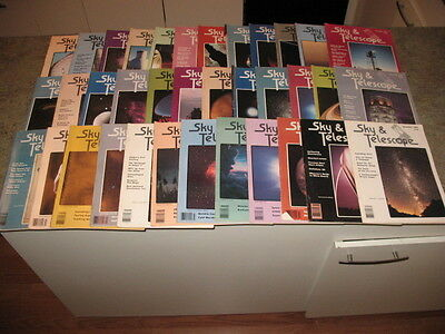 SKY AND TELESCOPE Magazine Issues from 1981-1983 Issues 36 total issues