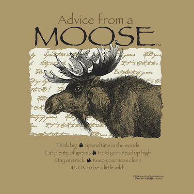 Advice From A Moose Large  Adult T-Shirt