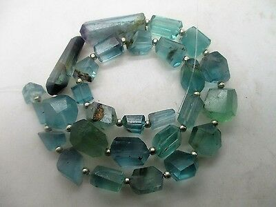"16""Rare Beautiful Hand Polished Mixed Afghan Florite Hand Polished Beads FL2013"