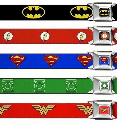 "Seat Belt Buckle Kids 1.0"" x 20-36"" DC Comics Batman Superman Joker Harley Quinn"