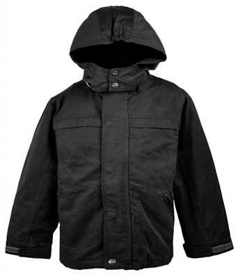 Boys Winter Lined Quilted Detachable Hood Jacket Coat Anorak 5 to 12 Years