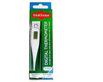 New Medical Thermometer Digital LCD Adult Underarm Oral Body Fever Alarm