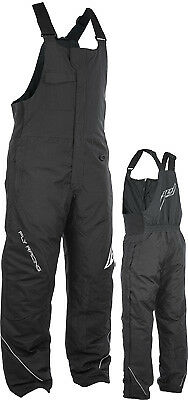 Fly Racing Outpost Black Gray Cold Weather Snowmobile Winter Snow Bib Pant