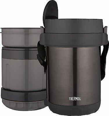 New Thermos 61oz All In One Meal Carrier Vac Insulated Stainless Steel Dbl Wall
