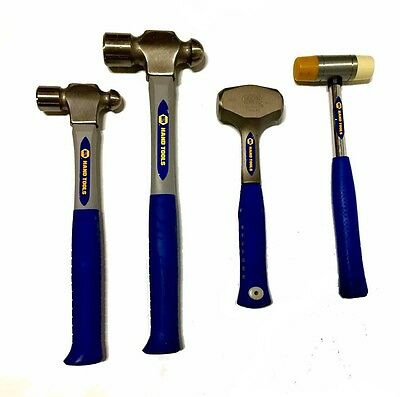 Napa 4 Pc. Hammer Set- Ball Peen, Soft Face And Drilling Hammer