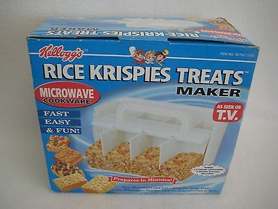 New Kelloggs Rice Krispie Treat Maker Microwave Cookware As Seen on TV