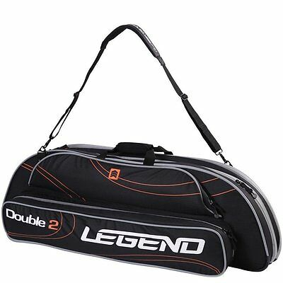 Legend Compound Bow Case Double Two Black and Orange CDT05B