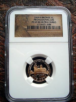 2009-S Bronze 1C Lincoln Professional Life - Ngc Pf-69 Rd Ultra Cameo #088
