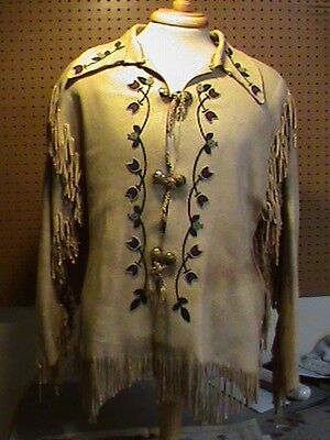 Native American Beaded Moose Hide Shirt Beaded Frontier History 1880's